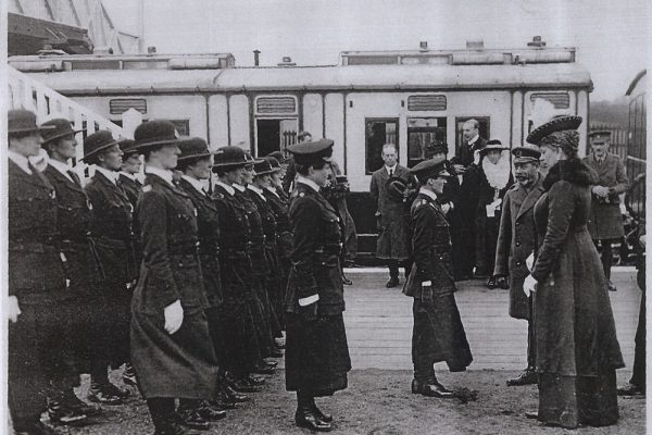 963-Royal-Couple-inspecting-Women-Police-Force