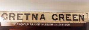 Gretna Green sign at the Devils Porridge
