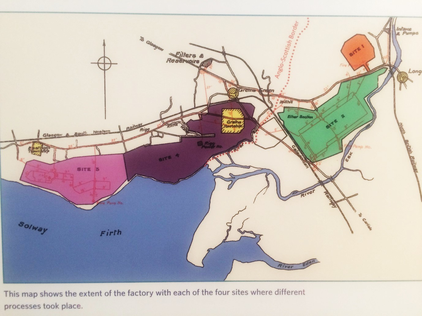 HM Factory Gretna map